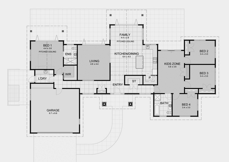Lifestyle plan 4 house plans with generous proportions for Design house architecture nz