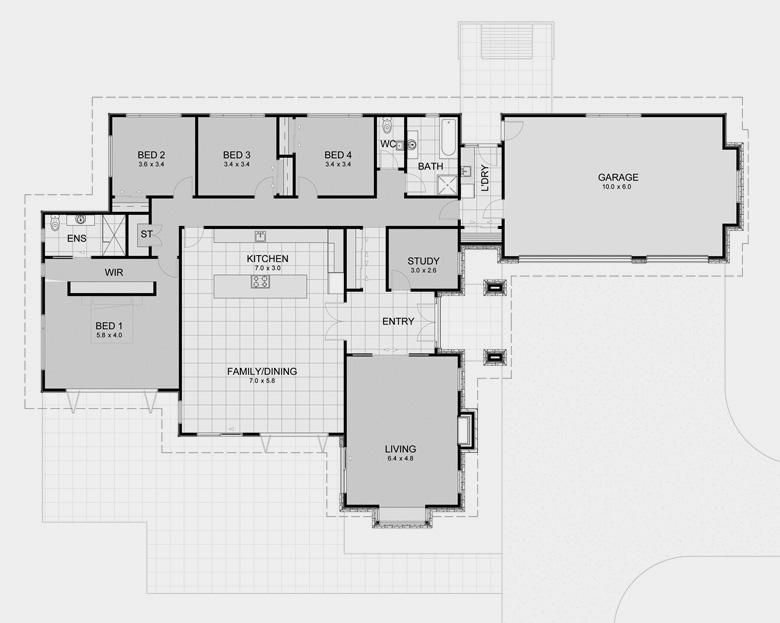 House designs floor plans nz zen lifestyle 5 5 bedroom for David sanders home designs