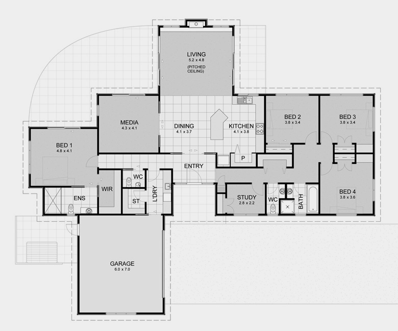 Lifestyle plan 7 house plans with generous proportions for David homes floor plans