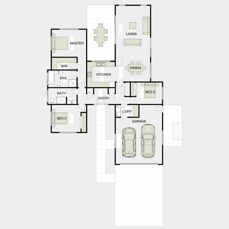 Simple Functional Floor Plans 4
