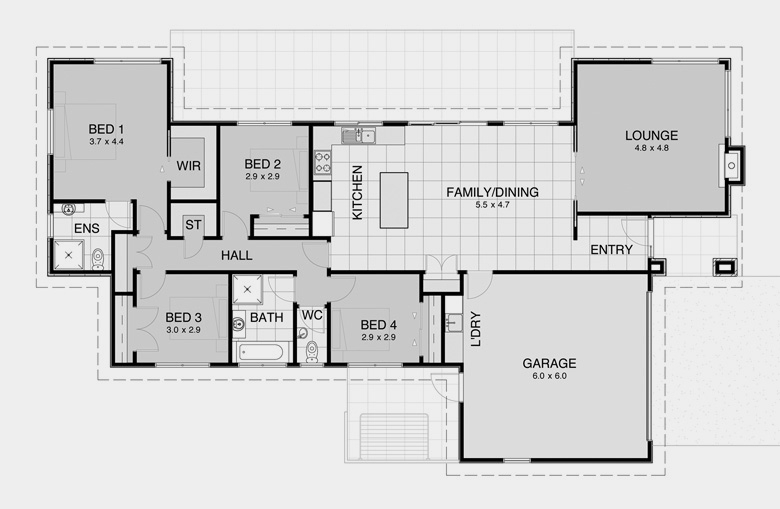Contemporary plan 7 modern nz house floor plans for Contemporary house designs nz