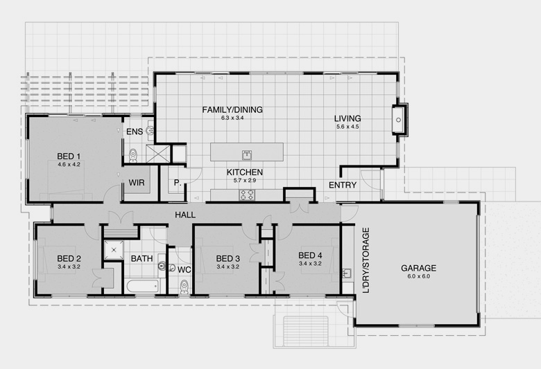 Contemporary plan 8 modern nz house floor plans for Open modern floor plans