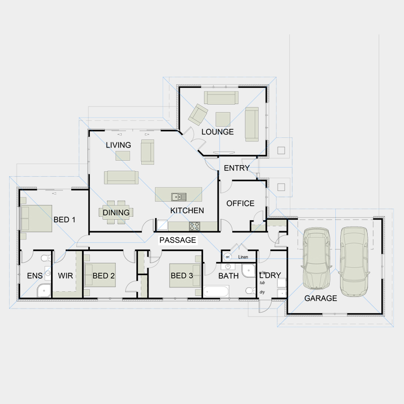 Simple Functional Floor Plans 9