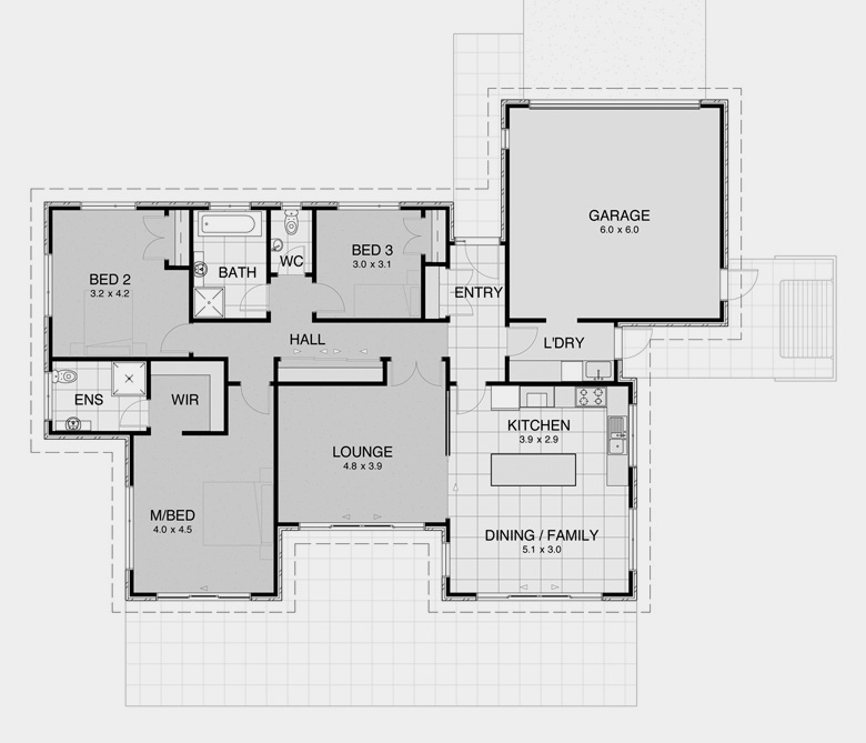 U shaped home designs australia home design 2017 for U shaped house plans