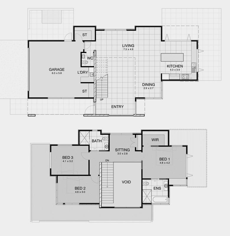 Contemporary plan 4 modern nz house floor plans for Floor plans new zealand